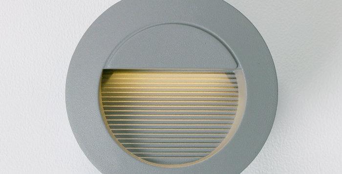4306 LED 원형 계단매입 6W (그레이) (타공크기 : 118파이)