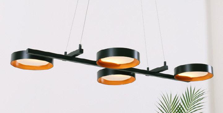 LED 퓨처 4등 펜던트 48W (블랙/화이트)