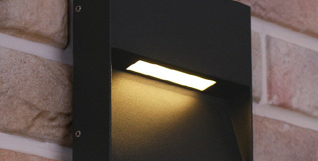 LED 3012 사각 외부벽등 5W(다크그레이)