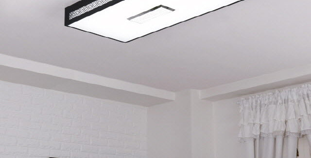 LED 크로버 직사각 거실등 50W (블랙)
