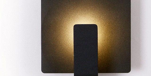 LED 정사각 간접벽등 3W (블랙)
