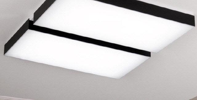 LED 크림블랙 거실등 100W