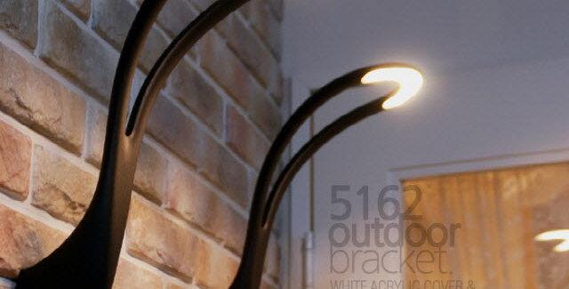 LED 5162웨이브 외부벽1등 4.5W(블랙)