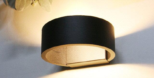 LED 원형 캐스팅 벽등 6W(블랙)