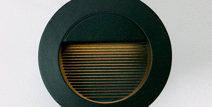 4306 LED 원형 계단매입 6W (블랙) (타공크기 : 118파이)