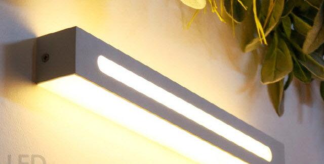 LED 스모키 직사각 벽등 6W(블랙/화이트)