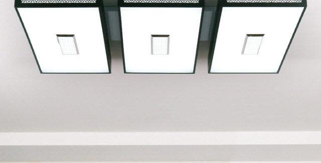 LED 크로버 직사각 거실등 150W (블랙)