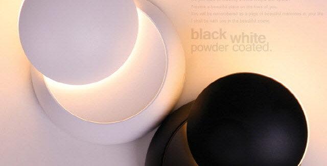 LED 리빙 파우더 벽1등 5W(블랙/화이트)
