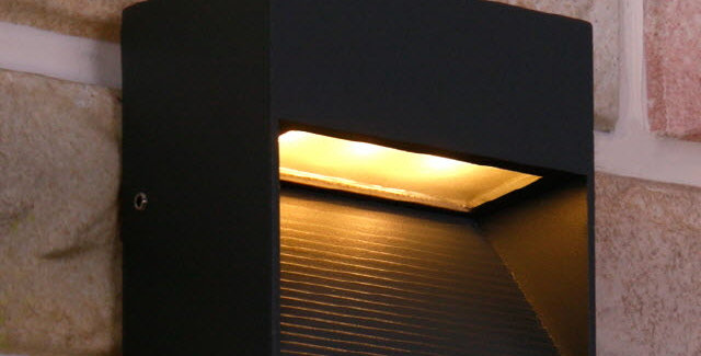LED 2391 외부사각 계단 벽등(다크그레이)