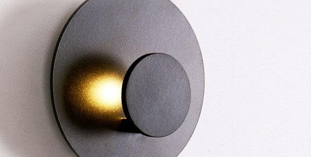 LED 더블원형 간접벽등 3W (블랙)