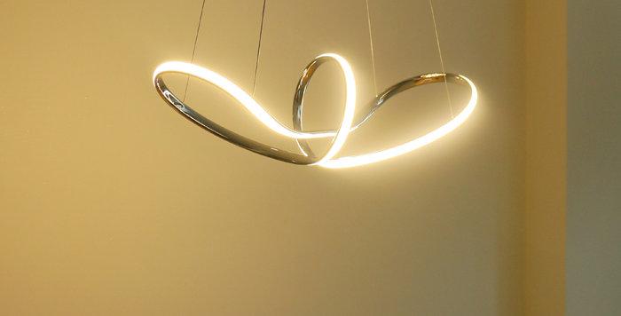 LED 가우스 펜던트 40W (크롬)