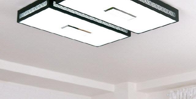 LED 크로버 직사각 거실등 100W (블랙)