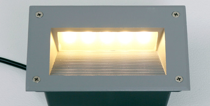 4502 LED 사각 계단매입 6W (그레이) (타공크기 : 157mm x 96mm)