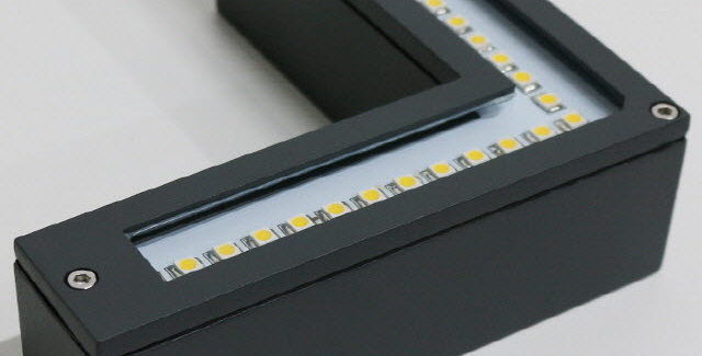 LED 외부 코너 벽등 12W(다크그레이)