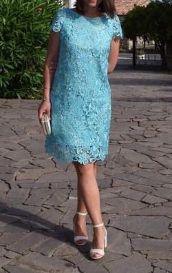 Bespoke Guipure lace dress by Michelle