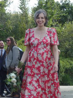Vintage look bespoke wedding dress