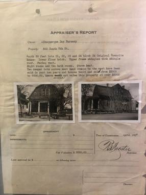 The Appraiser's Report for the original CKECC building