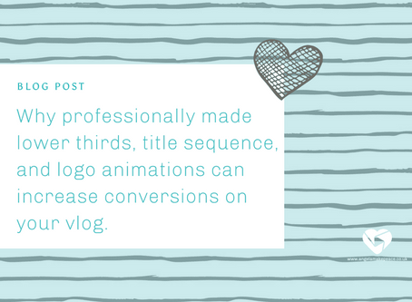 Why Professionally Made Lower Thirds, Title Sequence, and Logo Animations can Increase Conversions.