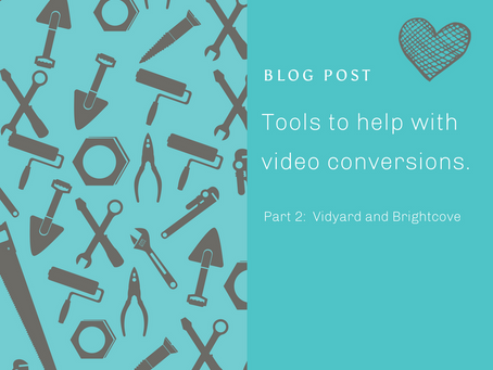Tools to help with video conversions Part 2 – Vimeo