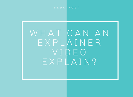 What can an Explainer Video explain?