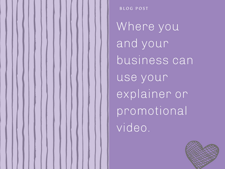 Where you and your business can use your explainer or promotional video