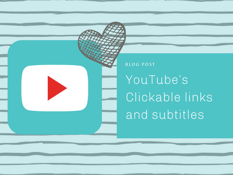 YouTube's Clickable links and subtitles