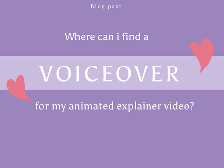 Where can I find a voice over for my animated video?