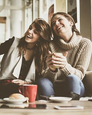 Girls having fun at home, laughing. .jpg