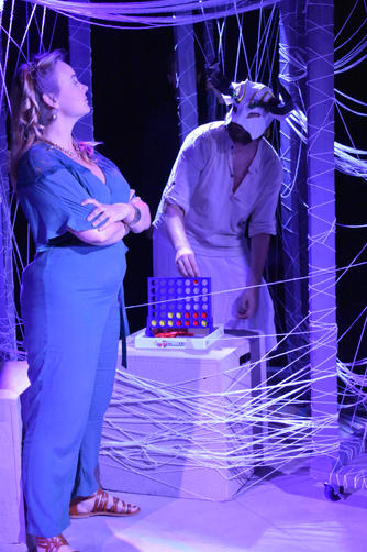 """""""Ariadne"""" - McKenna Kline """"Minotaur"""" - Jon Waters  Photo by Heather Elmquist"""