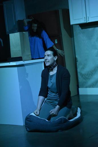 """""""Elizabeth Miller"""" - Jennifer Stockwell """"Cerberus"""" - Jodeen Revere  Photo by Heather Elmquist"""