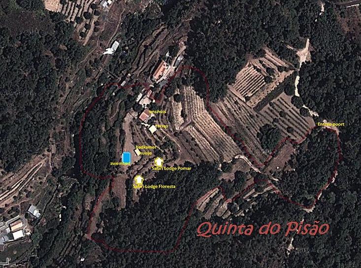 Overzichtsfoto (luchtfoto) Quinta do Pisão