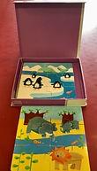 3 puzzles de 6 pièces