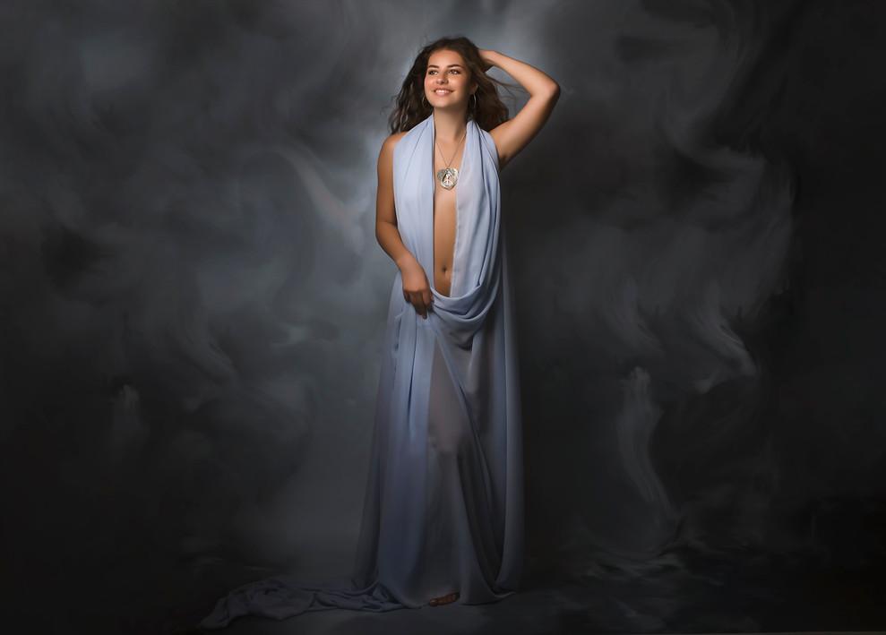 Portrait de jeune femme réalisée par Gwe