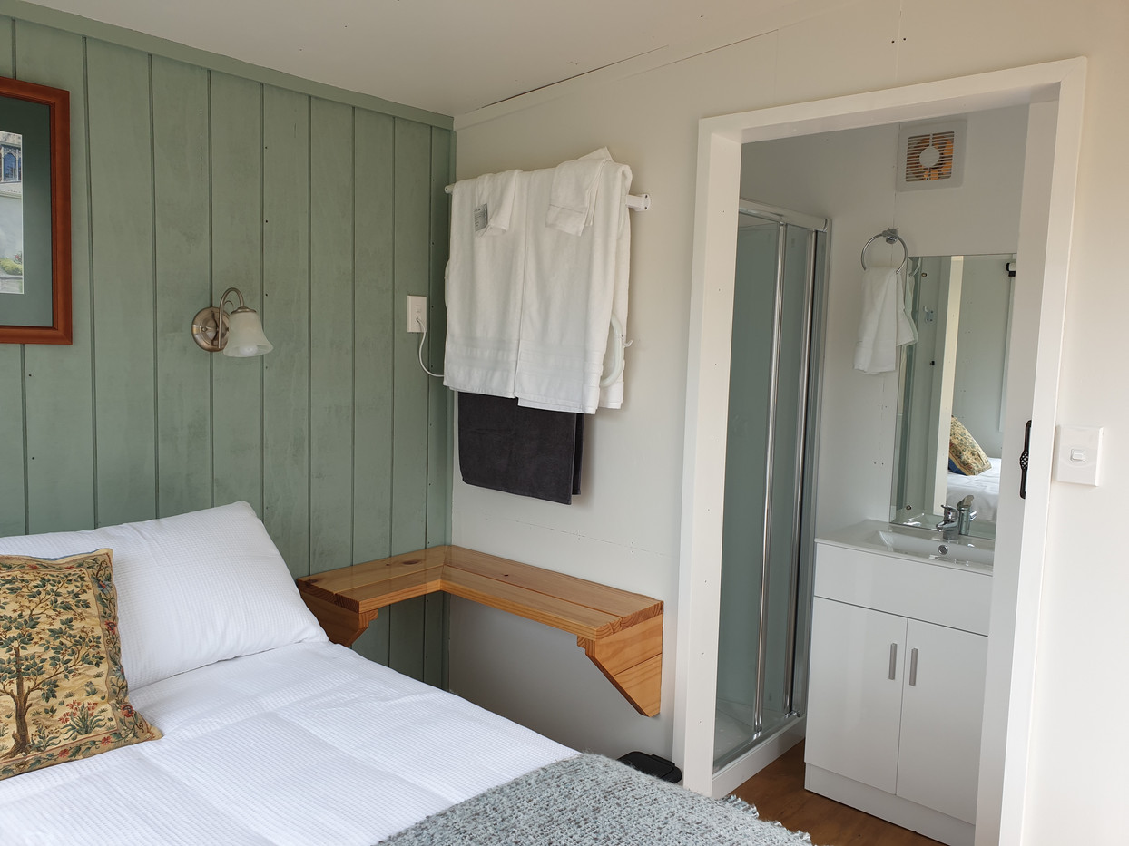 Bedroom cabin with ensuite bathroom