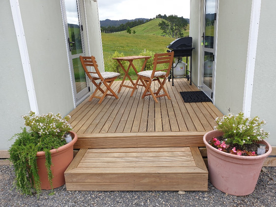 Private deck with use of BBQ and outdoor seating