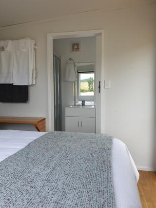 Ensuite bathroom from bedroom
