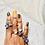 Thumbnail: RINGS: Hematite w/ Hematite Copper Ring Size 6