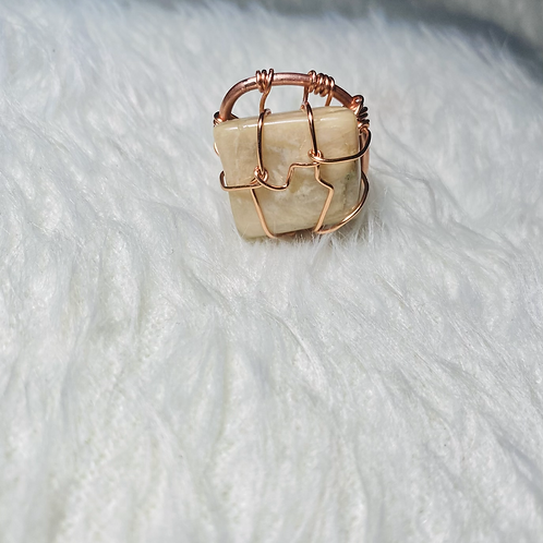 RINGS|Moonstone with Copper (Large) Sz 10