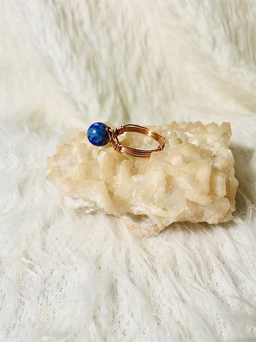 RINGS: Lapis Lazuli w/ Copper Ring Size 11