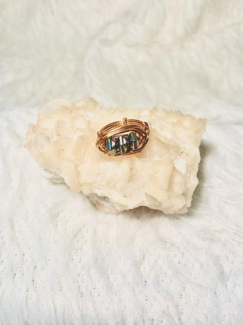 RINGS: Rainbow Hematite w/  Copper Sz 8