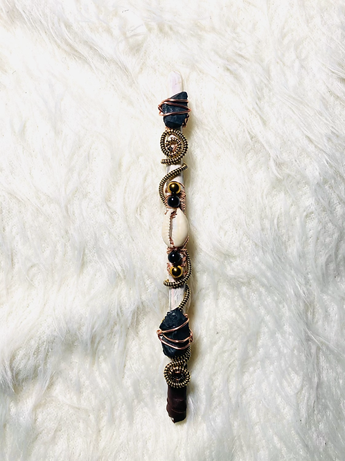 Magical Wands: Protection|Shungite Multi Stone Combo Protection Wand