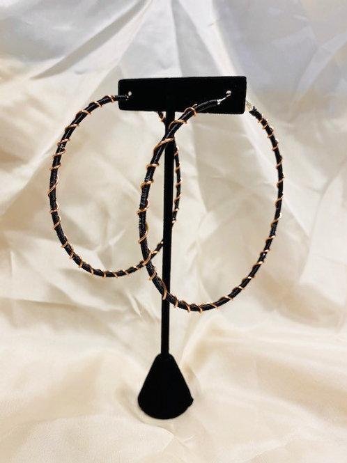 X-Large Black Copper Earrings