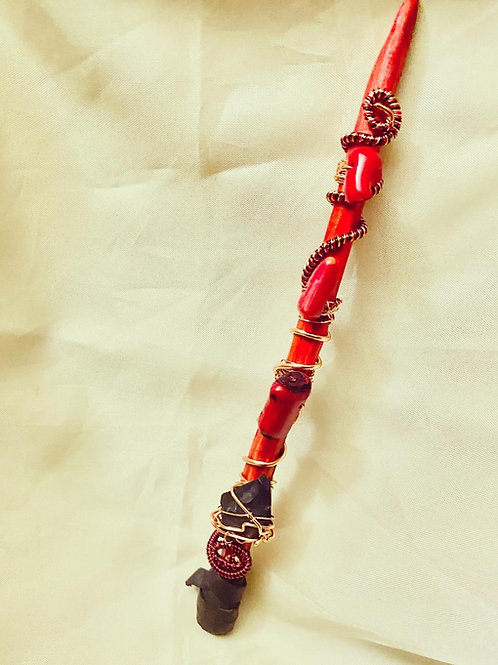 Magical Wands: Red|Coral & Shungite Protection Wand