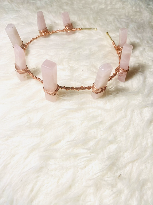 TheCROWNS| Rose Quartz  Mermaid Crown ( Empress Line)