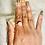 Thumbnail: RINGS: Rose Quartz with Copper Size 7