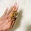 Thumbnail: RINGS: Tigers Eye Large Copper Ring Size 8