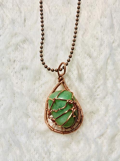 Aventurine  Pendant w/ Copper