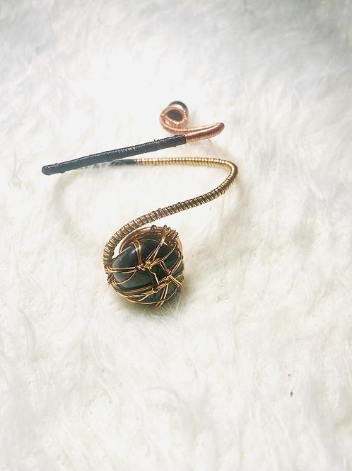 Onyx with Multi-Copper Cuff