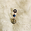 Thumbnail: Hair Jewelry|Sodalite with Peace Charm