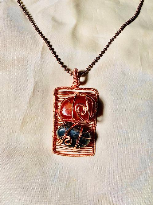 Carnelian & Onyx Handmade Pendant